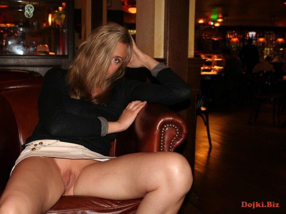 Upskirt no panties