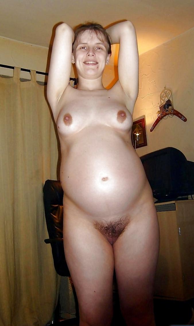 Беременная жена волосатая киска
