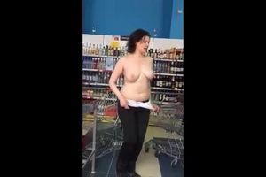 Бухая дура в магазине устроила секс-шоу mp4