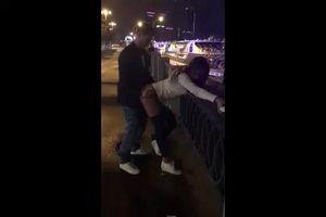 Публичный секс на Московской набережной подруга снимает на видео mp4
