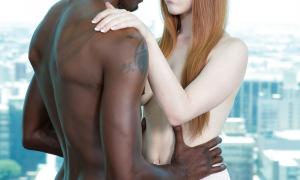 Рыжая девушка и её темнокожий ёбарь 24 фото