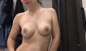 Натуральная грудь домашнее замужняя фото