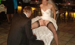 Без трусов на свадьбе перед женихом фото