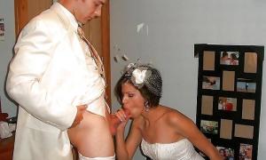 Первый минет жениху во время свадьбы