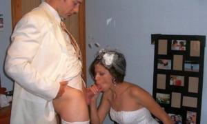 Так приятно дать в рот невесте на свадьбе