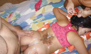 Залитая чужой спермой жена фото